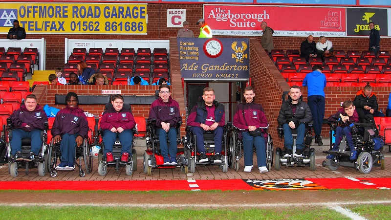 Members of the FIPFA World Cup England squad visit Aggborough Stadium